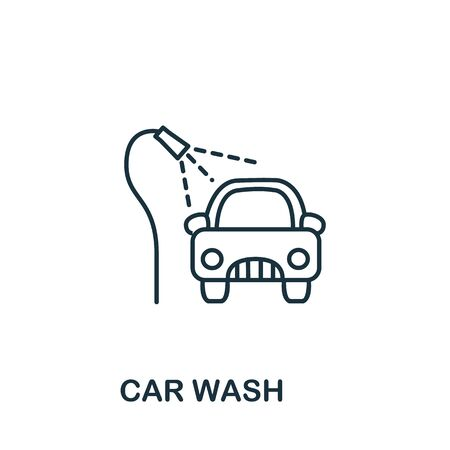 Car Wash icon from cleaning collection. Simple line element car wash symbol for templates, web design and infographics.