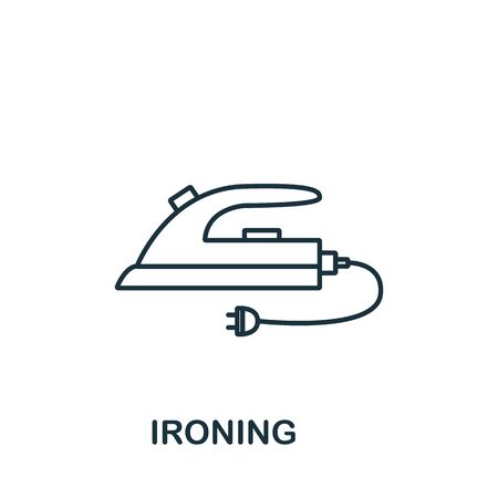 Ironing icon from cleaning collection. Simple line element ironing symbol for templates, web design and infographics.