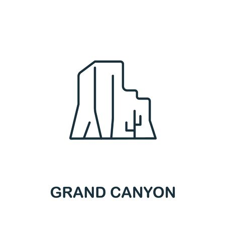 Grand Canyon icon from usa collection. Simple line Grand Canyon icon for templates, web design and infographics.