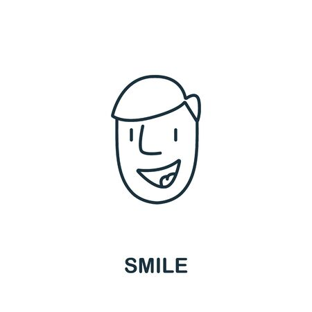 Smile icon from success collection. Simple line element smile symbol for templates, web design and infographics.