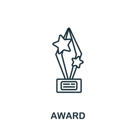Award icon from success collection. Simple line element award symbol for templates, web design and infographics. Ilustração