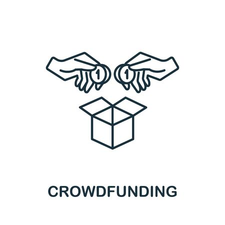 Crowdfunding icon from crowdfunding collection. Simple line Crowdfunding icon for templates, web design and infographics.