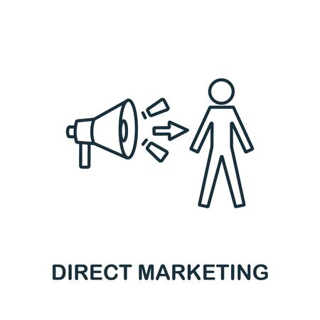 Direct Marketing icon from digital marketing collection. Simple line element direct marketing symbol for templates, web design and infographics.