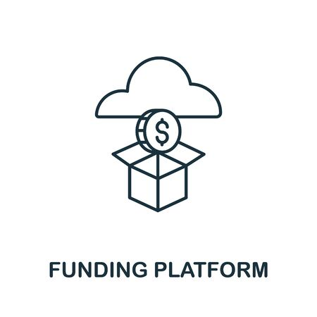 Funding Platform icon from crowdfunding collection. Simple line Funding Platform icon for templates, web design and infographics