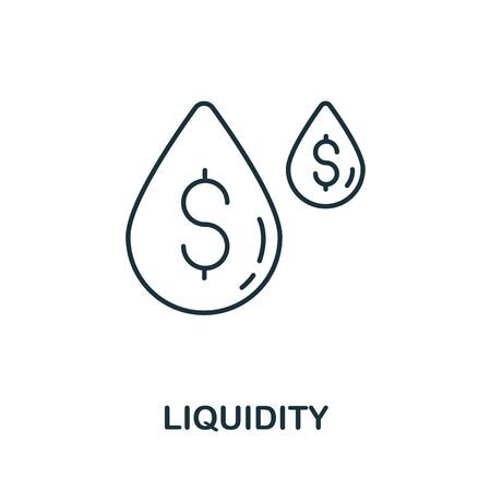 Liquidity icon from crowdfunding collection. Simple line Liquidity icon for templates, web design and infographics Ilustración de vector