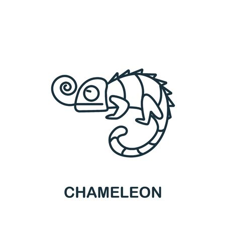 Chameleon icon from home animals collection. Simple line element Chameleon symbol for templates, web design and infographics