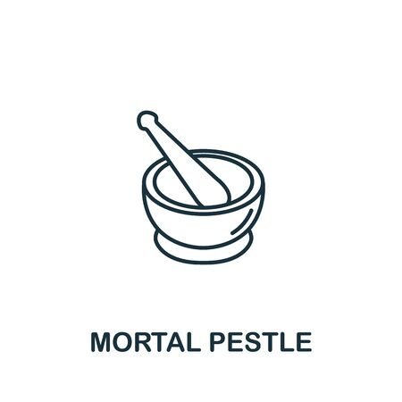 Martar And Pestle icon from spa therapy collection. Simple line element Martar And Pestle symbol for templates, web design and infographics