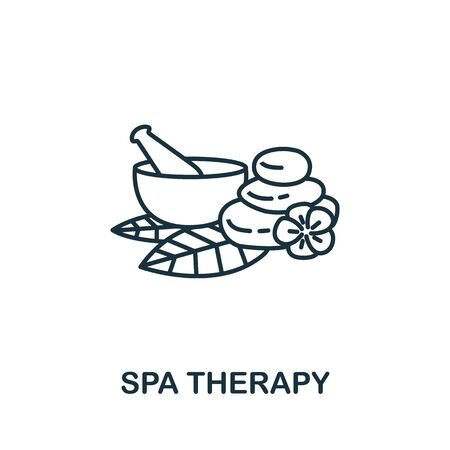 Spa Therapy icon. Simple line element Spa Therapy symbol for templates, web design and infographics