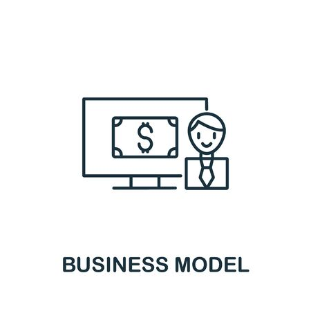 Business Model icon from industry 4.0 collection. Simple line element business model symbol for templates, web design and infographics.