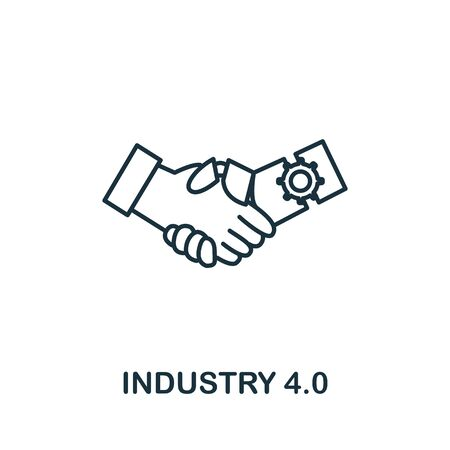 Industry 4.0 icon. Simple line element industry 4.0 symbol for templates, web design and infographics.