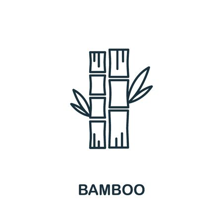 Bamboo icon from garden collection. Simple line Bamboo icon for templates, web design and infographics. Vettoriali