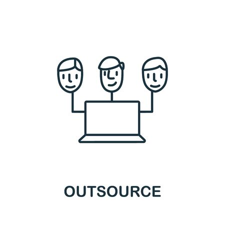 Outsource icon from headhunting collection. Simple line Outsource icon for templates, web design and infographics.