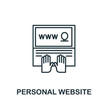 Personal Website icon from headhunting collection. Simple line Personal Website icon for templates, web design and infographics.