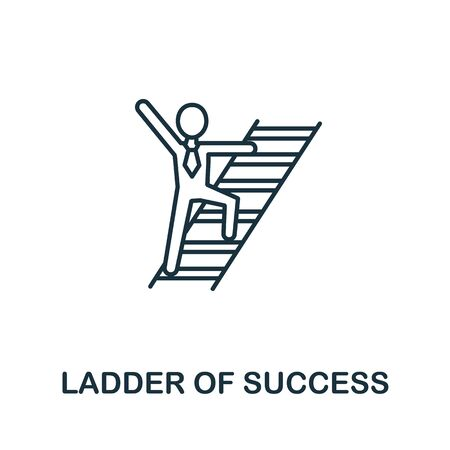Ladder Of Success icon from headhunting collection. Simple line Ladder Of Success icon for templates, web design and infographics.