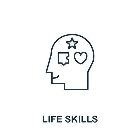 Life Skills icon. Simple line element life skills symbol for templates, web design and infographics. 矢量图像
