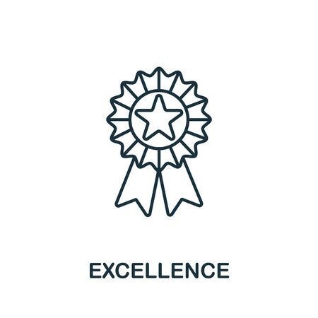 Excellence icon from life skills collection. Simple line Excellence icon for templates, web design and infographics.