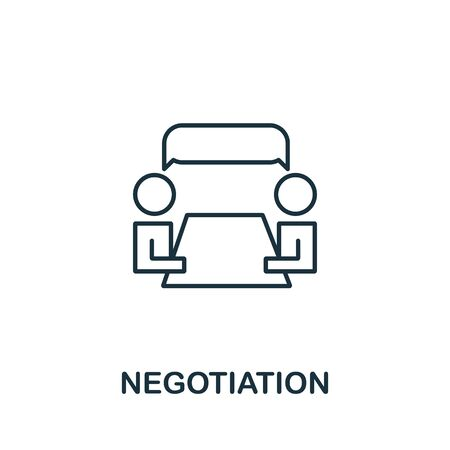 Negotiation icon from life skills collection. Simple line Negotiation icon for templates, web design and infographics.