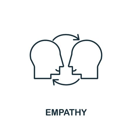 Empathy icon from life skills collection. Simple line Empathy icon for templates, web design and infographics. Ilustración de vector