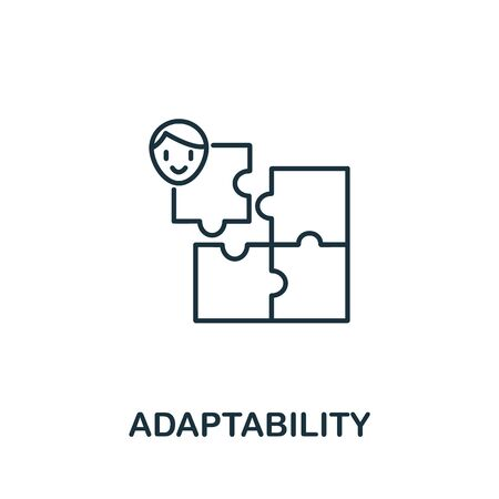 Adaptability icon from life skills collection. Simple line Adaptability icon for templates, web design and infographics.