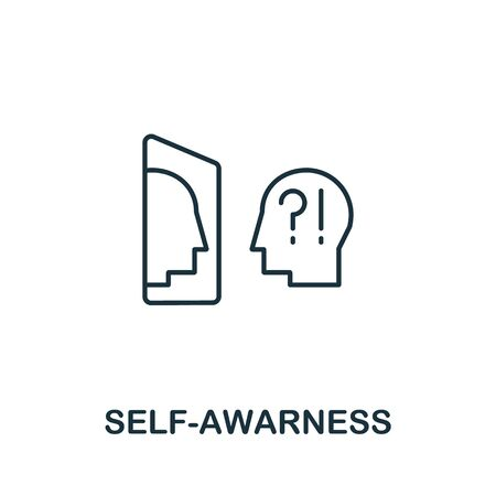 Self-Awareness icon from life skills collection. Simple line Self-Awareness icon for templates, web design and infographics.
