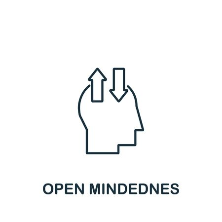 Open Mindedness icon from life skills collection. Simple line Open Mindedness icon for templates, web design and infographics.