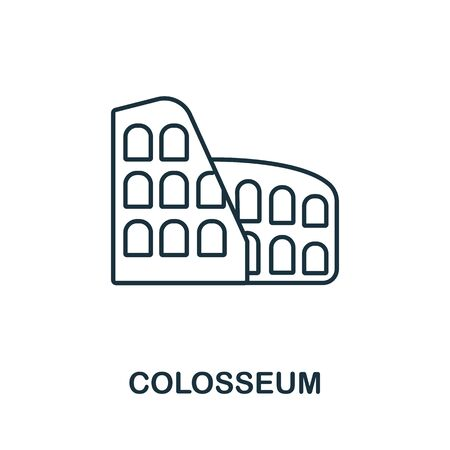 Colosseum icon from italy collection. Simple line Colosseum icon for templates, web design and infographics.