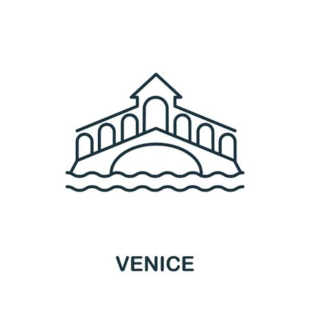 Venice icon from italy collection. Simple line Venice icon for templates, web design and infographics.