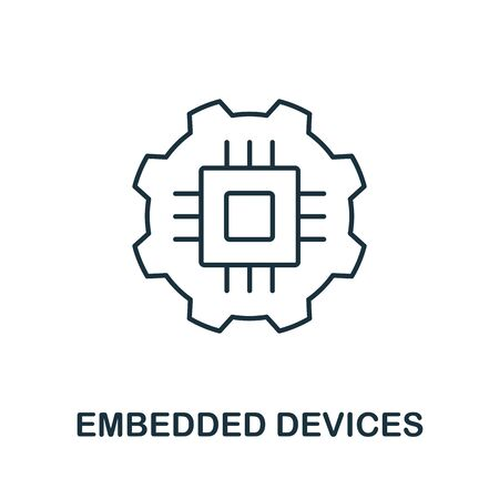 Embedded Devices icon from iot collection. Simple line Embedded Devices icon for templates, web design and infographics.