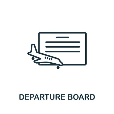 Departure Board icon from airport collection. Simple line Departure Board icon for templates, web design and infographics. Vecteurs