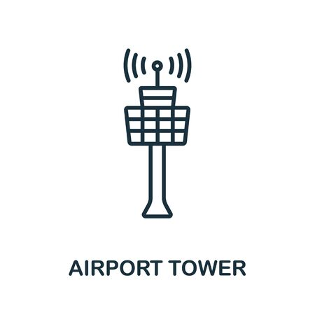 Airport Tower icon from airport collection. Simple line Airport Tower icon for templates, web design and infographics.