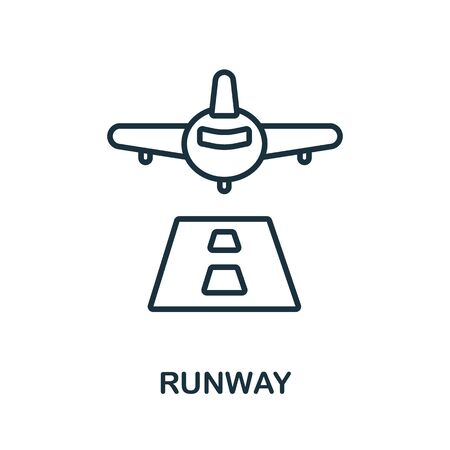 Runway icon from airport collection. Simple line Runway icon for templates, web design and infographics.