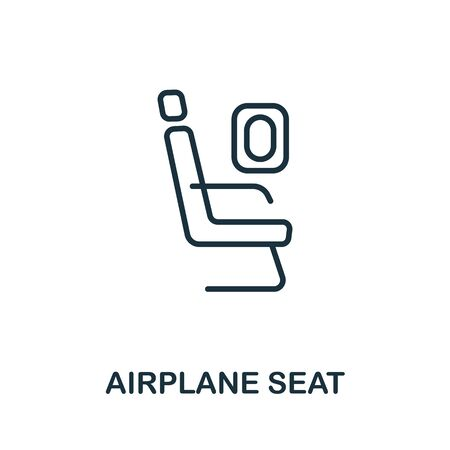 Airplane Seat icon from airport collection. Simple line Airplane Seat icon for templates, web design and infographics. Vecteurs