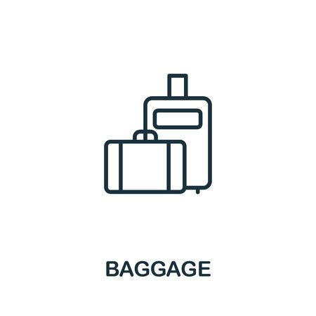 Baggage icon from airport collection. Simple line Baggage icon for templates, web design and infographics.