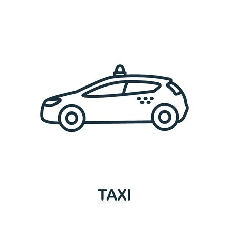 Taxi icon from airport collection. Simple line Taxi icon for templates, web design and infographics.