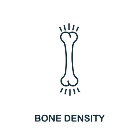 Bone Density icon from health check collection. Simple line Bone Density icon for templates, web design and infographics. 向量圖像
