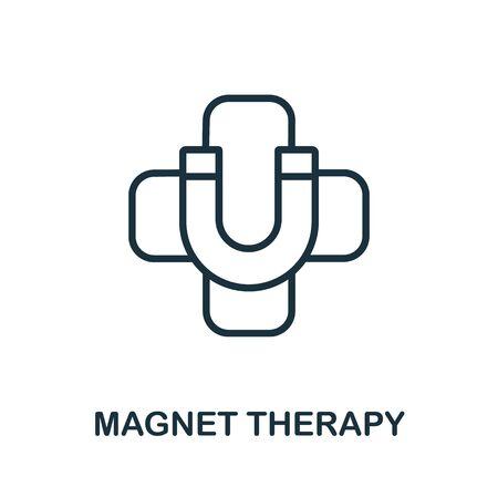 Magnet Therapy icon from alternative medicine collection. Simple line Magnet Therapy icon for templates, web design and infographics. Ilustração Vetorial