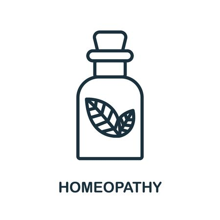 Homeopathy icon from alternative medicine collection. Simple line Homeopathy icon for templates, web design and infographics.