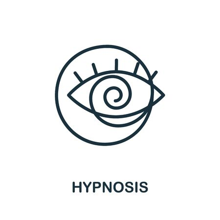 Hypnosis icon from alternative medicine collection. Simple line Hypnosis icon for templates, web design and infographics.