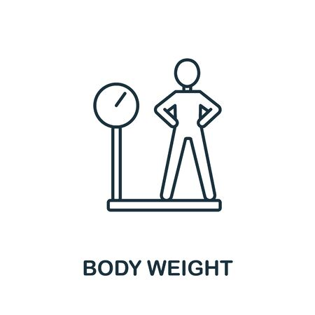 Body Weight icon from health check collection. Simple line Body Weight icon for templates, web design and infographics.