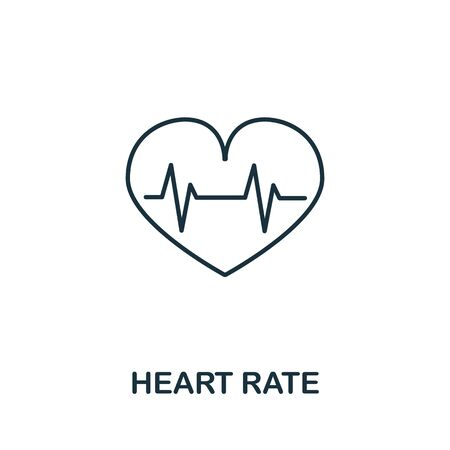 Heart Rate icon from health check collection. Simple line Heart Rate icon for templates, web design and infographics.