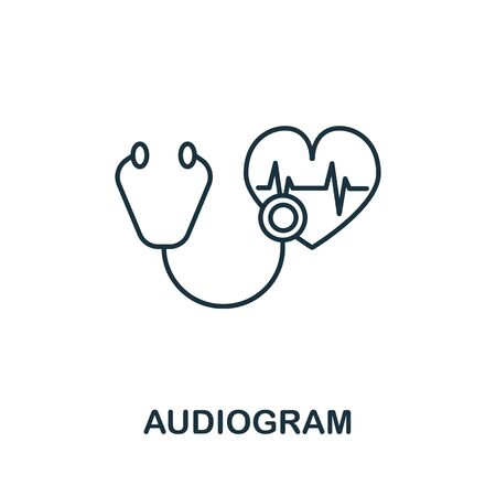 Audiogram icon from health check collection. Simple line Audiogram icon for templates, web design and infographics.