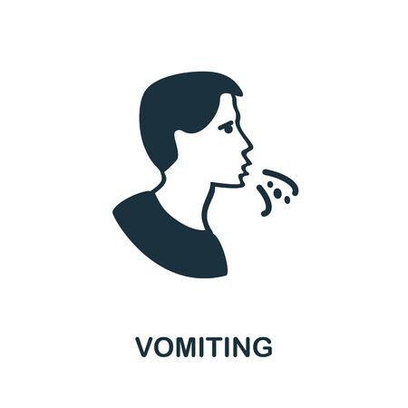 Vomiting icon. Simple illustration from coronavirus collection. Creative Vomiting icon for web design, templates, infographics and more.
