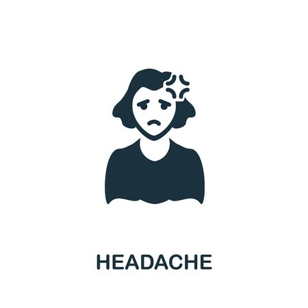 Headache icon. Simple illustration from coronavirus collection. Creative Headache icon for web design, templates, infographics and more.