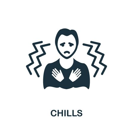 Chills icon. Simple illustration from coronavirus collection. Creative Chills icon for web design, templates, infographics and more.