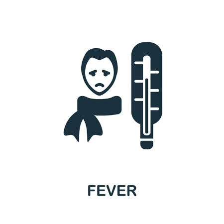Fever icon. Simple illustration from coronavirus collection. Creative Fever icon for web design, templates, infographics and more.