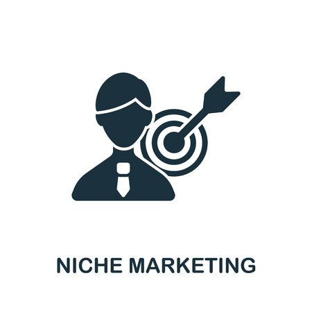 Niche Marketing icon from affiliate marketing collection. Simple line Niche Marketing icon for templates, web design and infographics.
