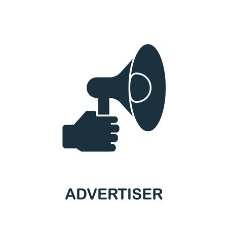 Advertiser icon from affiliate marketing collection. Simple line Advertiser icon for templates, web design and infographics.
