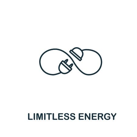 Limitless energy icon from clean energy collection. Simple line element limitless energy symbol for templates, web design and infographics.