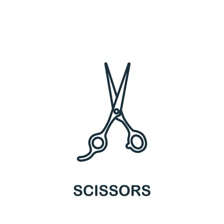 Scissors icon from barber shop collection. Simple line element scissors symbol for templates, web design and infographics.