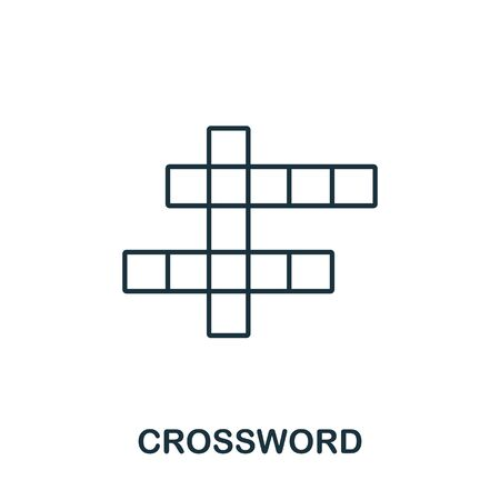 Crossword icon from hobbies collection. Simple line element Crossword symbol for templates, web design and infographics. Çizim